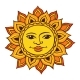 Ethnic Drawing of the Sun - GraphicRiver Item for Sale