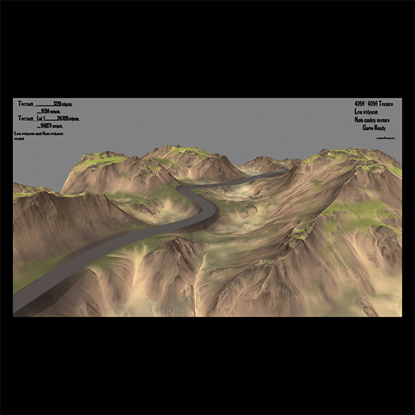 terrain road - 3DOcean Item for Sale