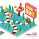 Board Game Isometric Composition