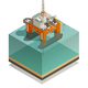 Oil Production Industry Isometric Composition