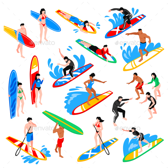 Isometric Surf Set - Sports/Activity Conceptual