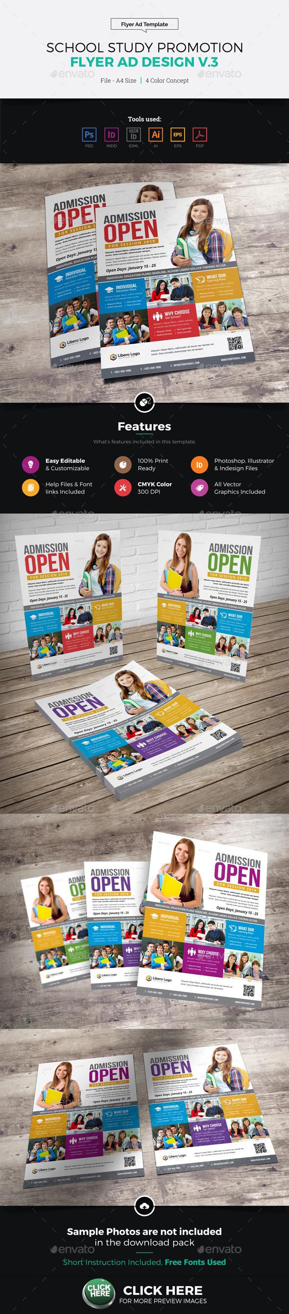 School Study Promotion Flyer Ad v3 - Corporate Flyers