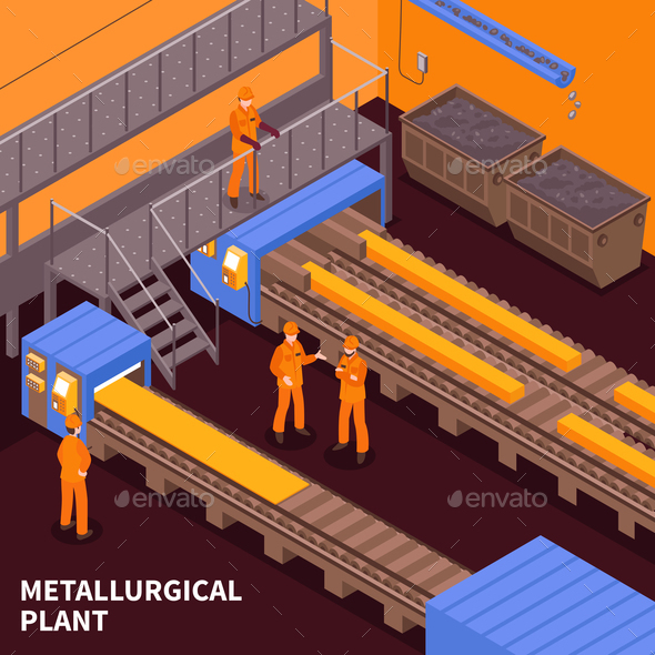 Steel Industry Isometric - Industries Business