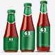 Ketchup Bottles Mockup - 3 Sizes
