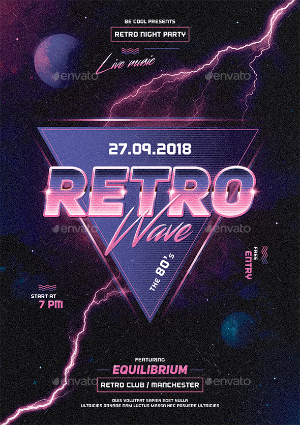 Retro Flyer/Poster - Clubs & Parties Events