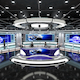 Virtual TV Studio News Set 1