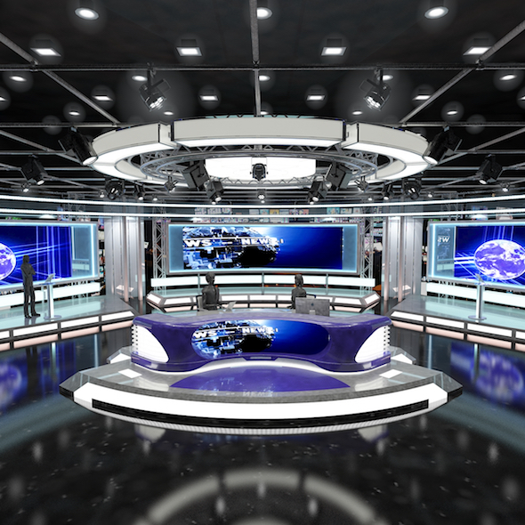 Virtual TV Studio News Set 1 - 3DOcean Item for Sale