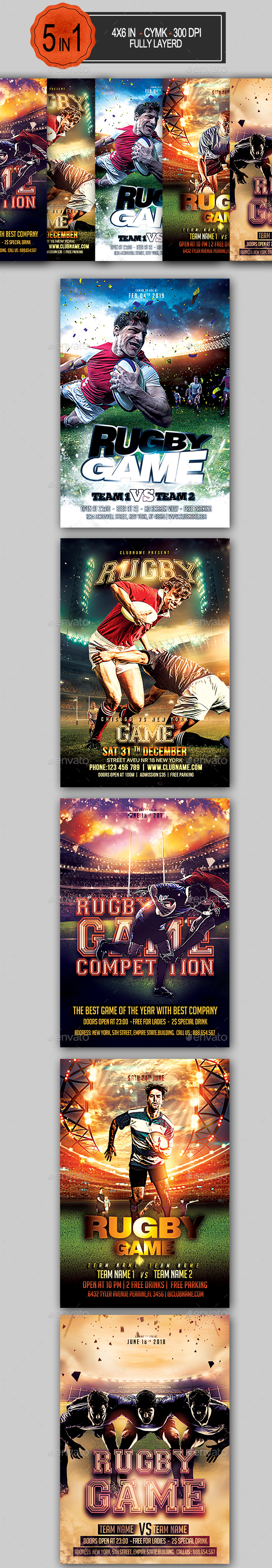 Rugby Flyer Bundle - Sports Events