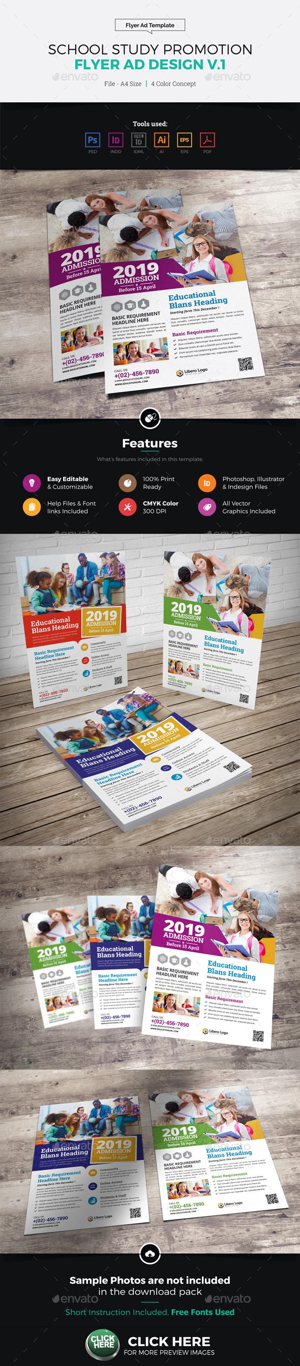 School Study Promotion Flyer Ad v1 - Corporate Flyers