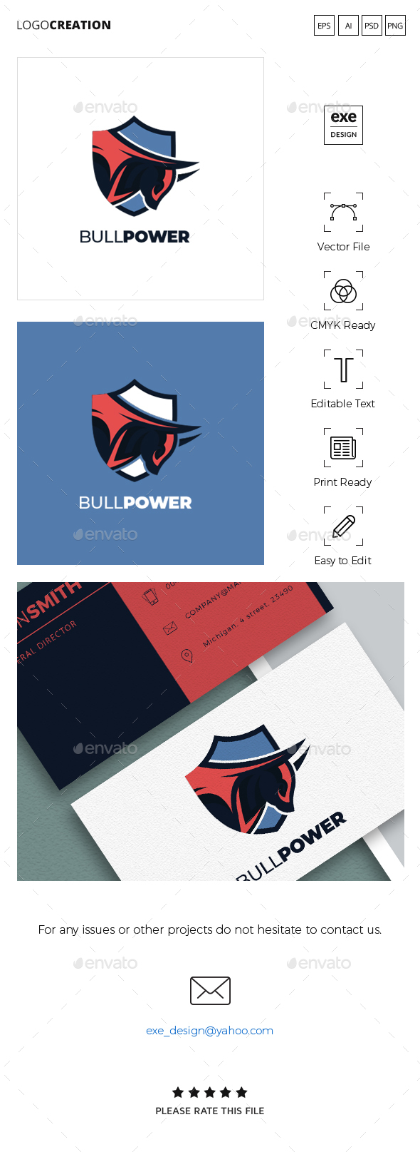 Bull Logo - Animals Logo Templates