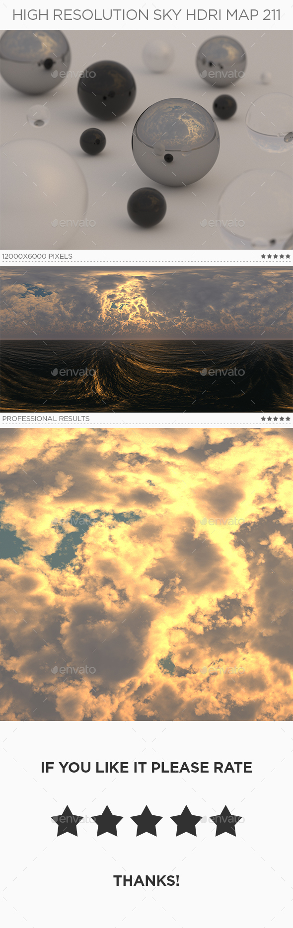 High Resolution Sky HDRi Map 211 - 3DOcean Item for Sale