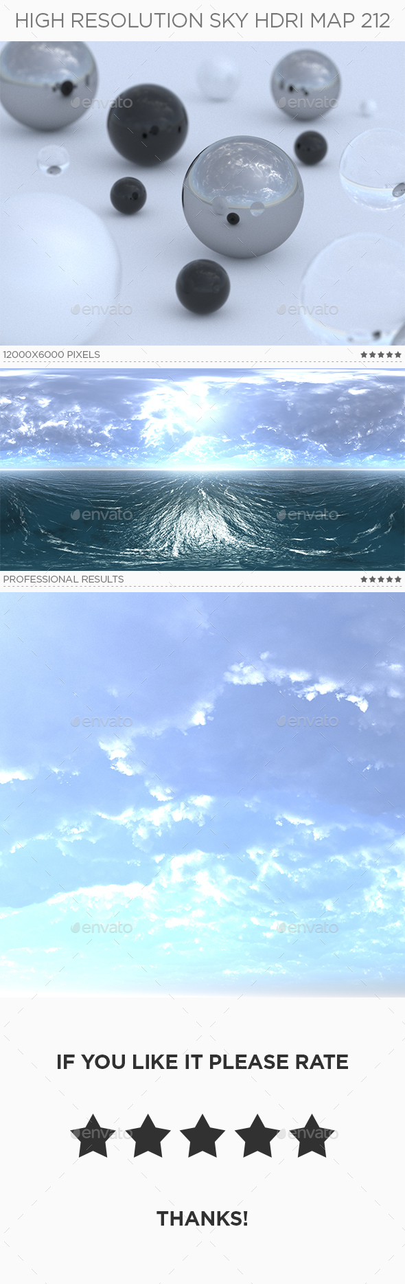 High Resolution Sky HDRi Map 212 - 3DOcean Item for Sale