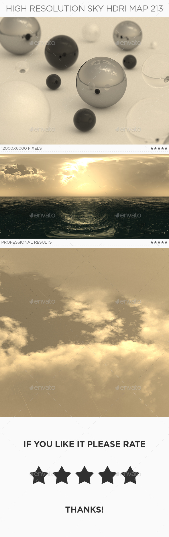 High Resolution Sky HDRi Map 213 - 3DOcean Item for Sale