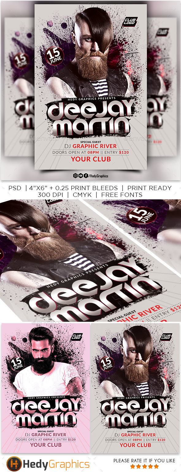 Guest Artist Flyer Template - Events Flyers