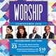 Worship Event Church Flyer - GraphicRiver Item for Sale