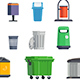Set of Garbage Cans for Home and Street - GraphicRiver Item for Sale