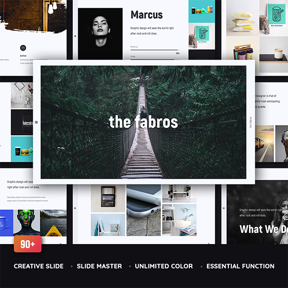 Fabros - Creative & Minimal Template (Powerpoint) - Creative PowerPoint Templates