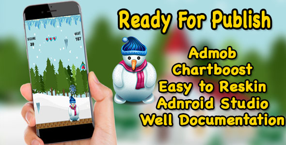 Snowman Winter Rescue - Game For Kids - Ready For Publish - Android Studio