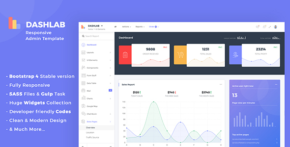 DashLab - Bootstrap 4 Responsive Admin Template - Admin Templates Site Templates