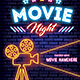 Movie Night Neon Flyer - GraphicRiver Item for Sale
