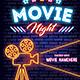 Movie Night Neon Flyer