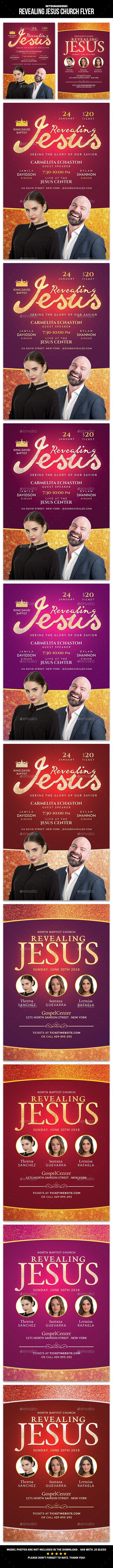 Revealing Jesus Church Flyer - Church Flyers
