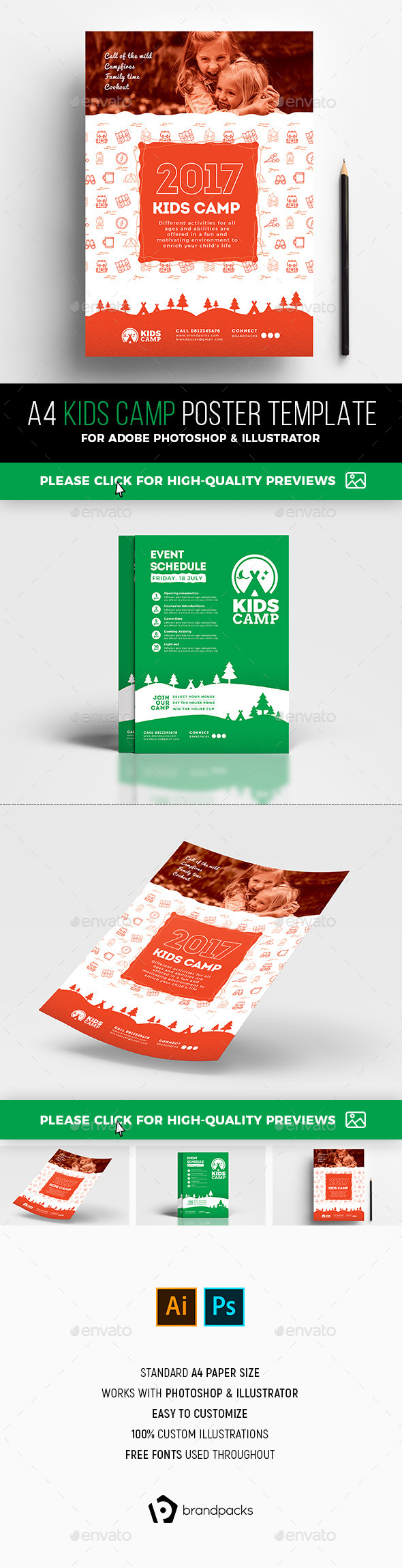 Kids Camp Poster Template - Sports Events