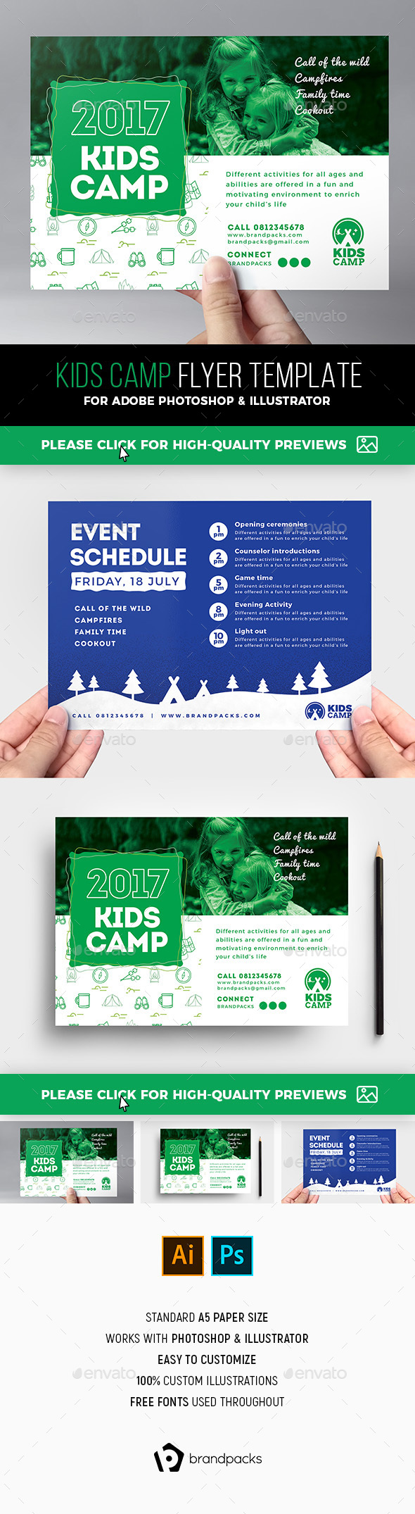 Kids Camp Flyer Template - Sports Events