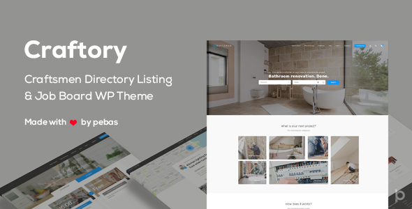 Craftory - Directory Listing Job Board WordPress Theme