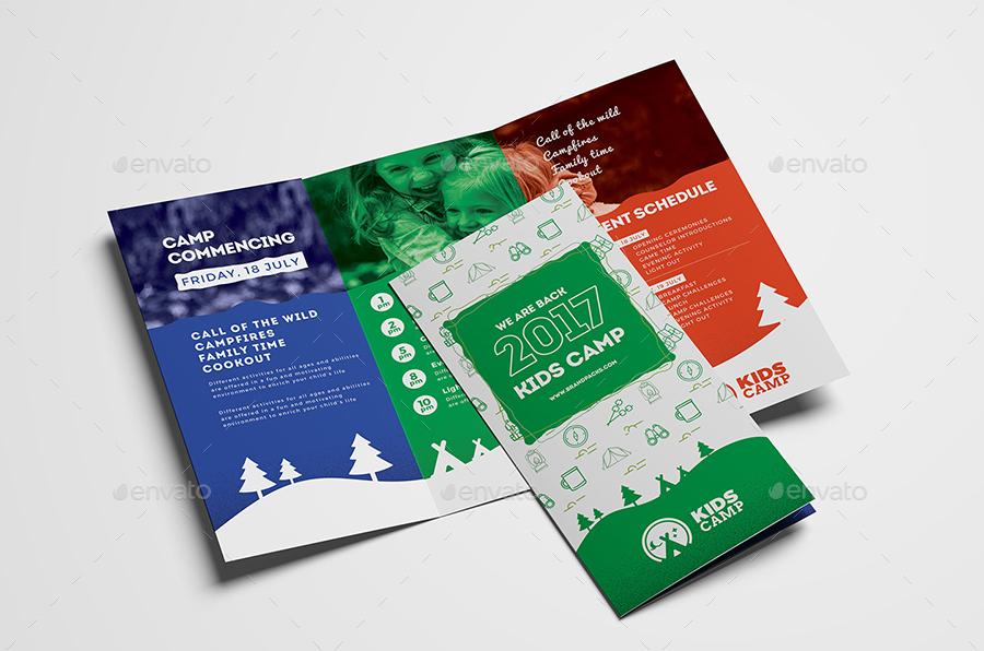 Kids Camp Tri-Fold Brochure Template