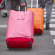 People croosing the street with baggage. Travel tourism background. Horizontal - PhotoDune Item for Sale