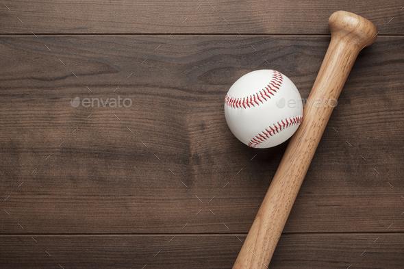 Baseball Bat And Ball  - Stock Photo - Images