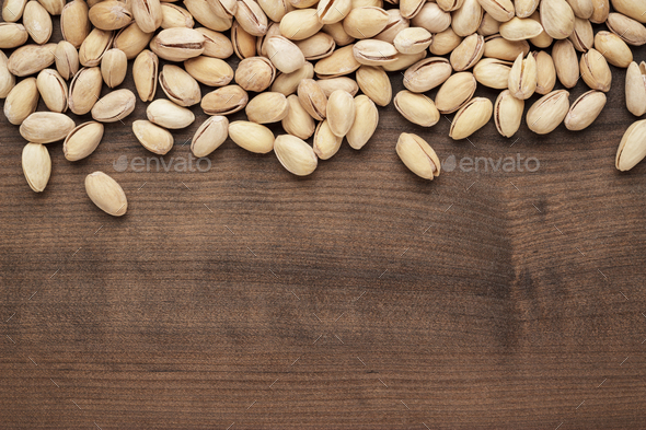 Pistachios On The Table Background  - Stock Photo - Images