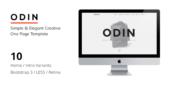 ODIN - Simple & Easy Creative One Page Joomla Template