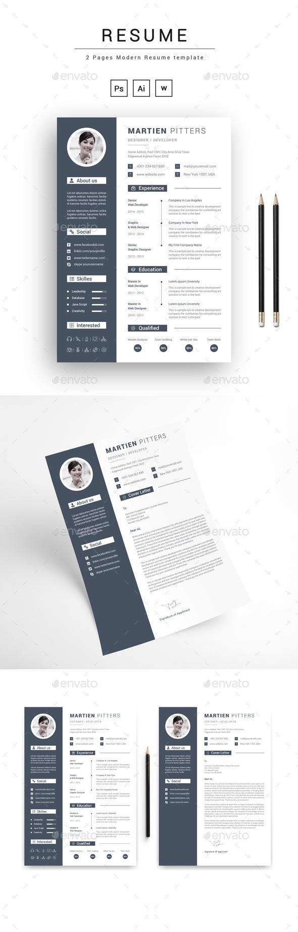 Resume - Stationery Print Templates