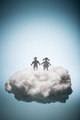 Two children standing on a white cloud. - PhotoDune Item for Sale