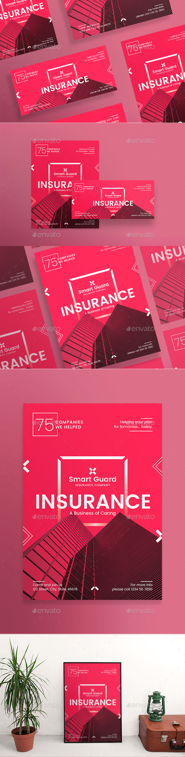 Insurance Company Flyers - Corporate Flyers