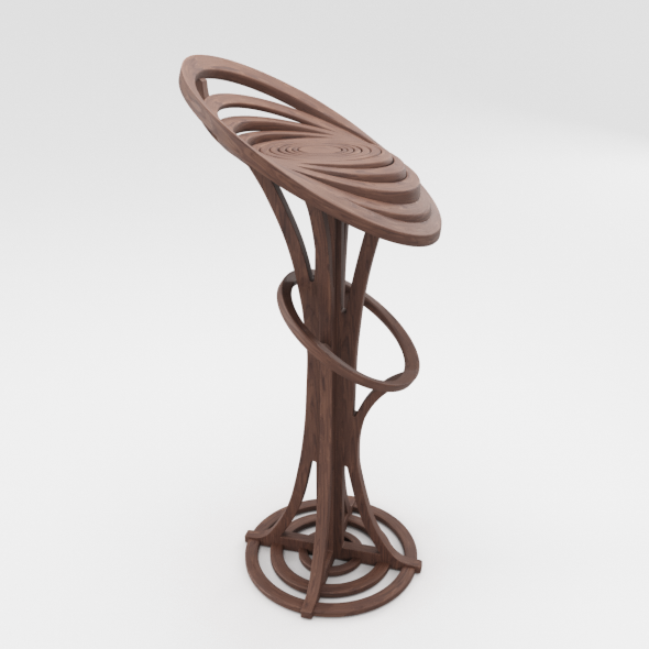 Modern Wooden Chair - 3DOcean Item for Sale