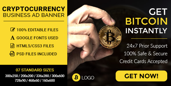 CryptoCurrency/Bitcoin Business HTML5 Ad Banners - CodeCanyon Item for Sale