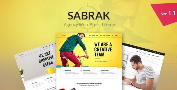 Sabrak - Agency WordPress Theme