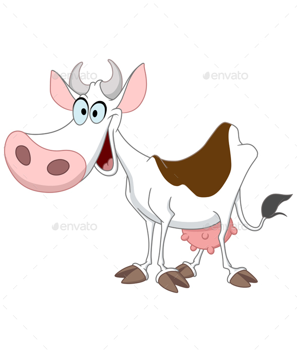 Happy Cow - Animals Characters