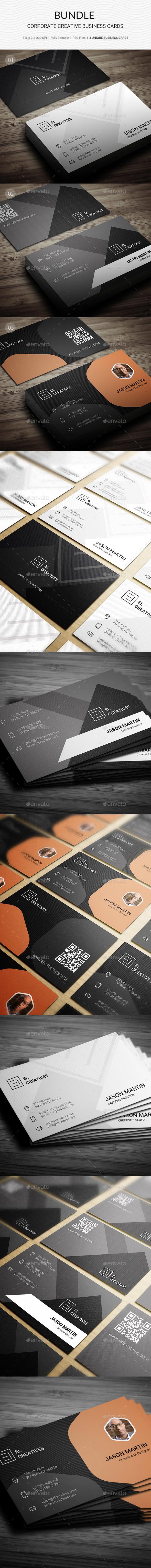 Bundle - Corporate Creative Business Cards - 166 - Creative Business Cards