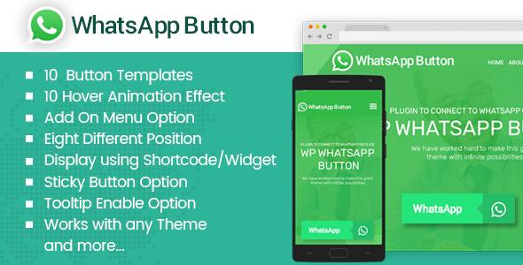 WP WhatsApp Button - Premium WhatsApp Button Plugin for WordPress - CodeCanyon Item for Sale