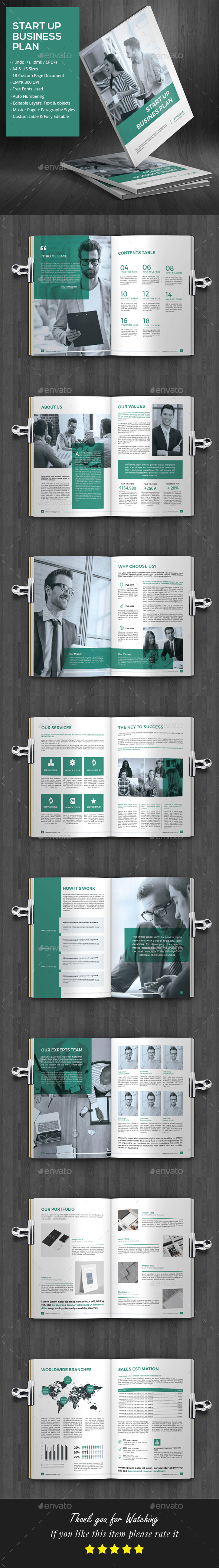 Stylish Business Plan - Brochures Print Templates