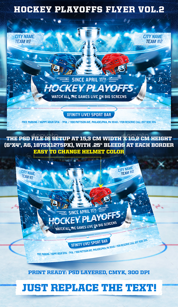 Hockey Playoffs Flyer Template vol.2 - Sports Events