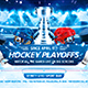 Hockey Playoffs Flyer Template vol.2