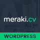 Meraki One Page Resume WordPress Theme - ThemeForest Item for Sale