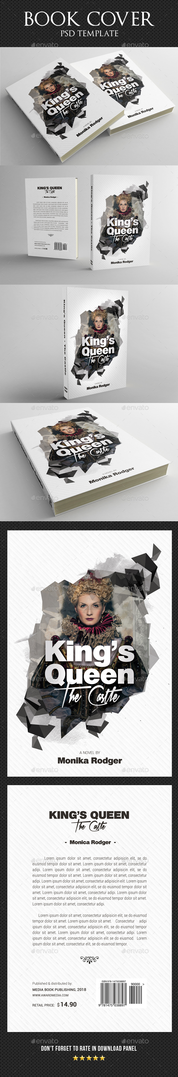 Book Cover Template 43 - Miscellaneous Print Templates