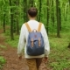 Hiker Woman with Backpack Walking in the Forest. Travel Concept - VideoHive Item for Sale