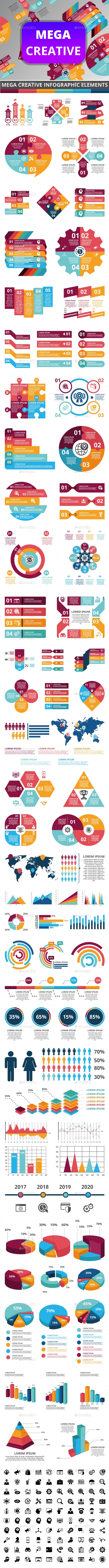 Mega Creative Infographic - Infographics